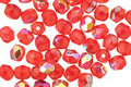 Czech Glass Cherry Red AB Fire Polished Round 4mm