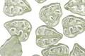 Czech Glass Luster Peridot Leaves 11x9mm