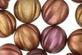 Czech Glass Matte Autumn Metallics Melon Round 12mm