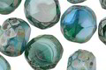 Czech Glass Beachside Picasso 2-Way Faceted Round Nugget 12mm