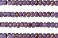 Czech Glass Grape Smoothie w/Bronze Luster Fire Polished Rondelle 2x3mm