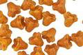 Czech Glass Pumpkin w/ Bronze Luster 5 Point Bellflower 5x6mm