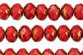 Czech Glass Bronzed Cherry Fire Polished Rondelle 5x7mm
