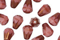 Czech Glass Bronzed Desert Rose Faceted Drop 8x6mm