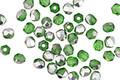 Czech Fire Polished Glass Emerald w/ Silver Round 3mm
