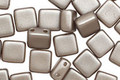 Czech Glass Cocoa Airy Pearl 2-Hole Tile 6mm
