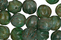 Czech Glass Forest Green Picasso Melon Round 8mm