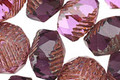 Czech Glass Amethyst Mix Groovy Rondelle 10x13mm