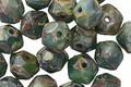 Czech Glass Pangea Picasso English Cut Bead 6x8mm