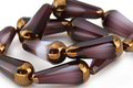 Czech Glass Bronzed Grape Smoothie Faceted Teardrop 20x8mm