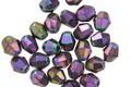 Czech Glass Iris Purple Bicone 5mm