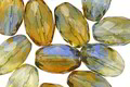 Czech Glass Sunny Shores Faceted Rice 12x8mm