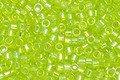 TOHO Aiko Transparent Lime Green Rainbow Precision Cylinder 11/0 Seed Bead