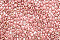 TOHO Permanent Galvanized (Matte) Peach Coral Round 11/0 Seed Bead