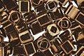 TOHO Metallic Iris Brown Cube 3mm Seed Bead