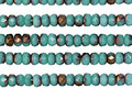 Czech Glass Bronzed Turquoise Fire Polished Rondelle 2x3mm