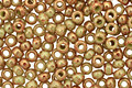 TOHO Marbled Opaque Avocado/Pink Round 11/0 Seed Bead