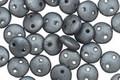 CzechMates Glass Matte Hematite 2-Hole Lentil 6mm