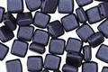 CzechMates Glass Pearl Coat Navy Blue 2-Hole Tile 6mm