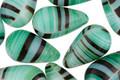 Czech Glass Mint Chocolate Teardrop 9x15mm