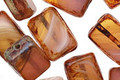 Czech Glass Rust Picasso Rectangle 12x8mm