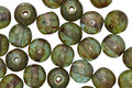 Czech Glass Water Lilies Round Druk 6mm