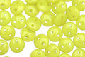 CzechMates Glass Chartreuse 2-Hole Lentil 6mm