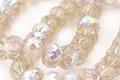 Czech Glass Crystal Clear AB w/ Mercury Glass Finish Cruller 7x9mm