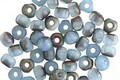Czech Glass Matte Light Sapphire Rainbow Finish Trica Beads 3x4mm