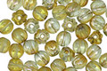 Czech Glass Chrysolite Celsian Melon Round 5mm