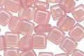 CzechMates Glass Milky Pink 2-Hole Tile 6mm