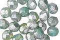 Czech Fire Polished Glass Mint w/ Mercury Finish Round 6mm