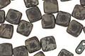CzechMates Glass Matte Jet Picasso 2-Hole Tile 6mm