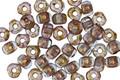 Czech Glass Bronzed Aqua Trica Beads 2.5x4mm