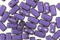 CzecMates Glass Purple Metallic Suede 2-Hole Brick 3x6mm