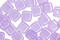 CzechMates Glass Milky Alexandrite 2-Hole Tile 6mm