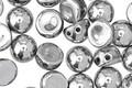 CzechMates Glass Silver 2-Hole Cabochon 7mm