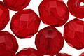 Czech Fire Polished Glass Garnet Round 12mm