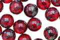 Czech Glass Ruby Picasso Round 8mm