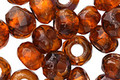 Czech Glass Spice w/ Copper Lining Large Hole Fire Polished Rondelle 6x9mm