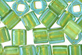 TOHO Aqua (with Opaque Yellow Lining) Cube 4mm Seed Bead