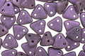 CzechMates Glass Metallic Suede Purple 2-Hole Triangle 6mm