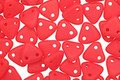 CzechMates Glass Matte Opaque Red 2-Hole Triangle 6mm