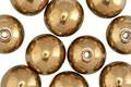 Czech Glass Gold Round Druk 10mm