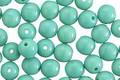 Czech Glass Turquoise Round Druk 6mm