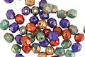 Czech Fire Polished Glass Bronzed Jewel-tone Round 4mm