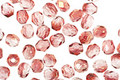 Czech Fire Polished Glass Luster Transparent Pink Round 3mm