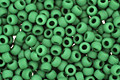 TOHO Opaque Frosted Shamrock Round 11/0 Seed Bead