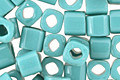 TOHO Opaque Turquoise Cube 4mm Seed Bead