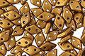 CzechMates Glass Matte Metallic Goldenrod 2-Hole Diamond 4x6mm